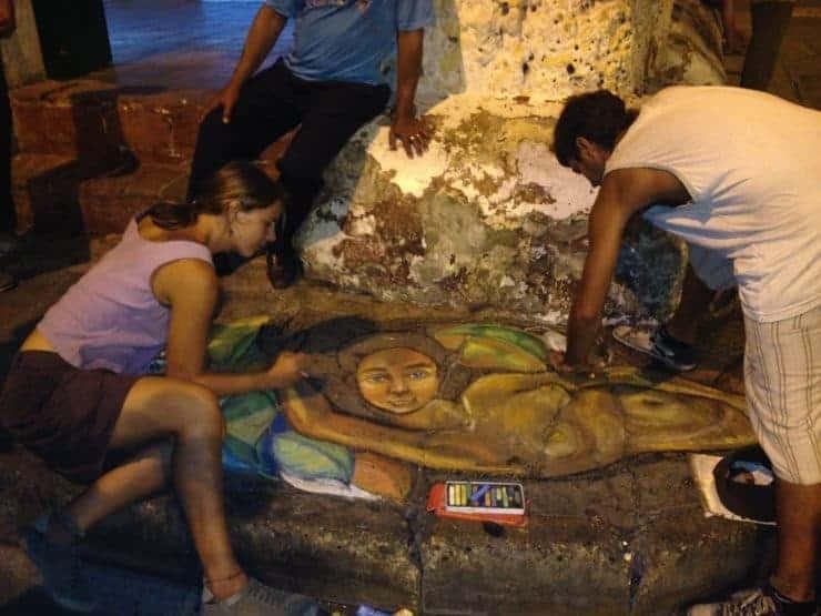 Artists in Getsemani, Cartagena
