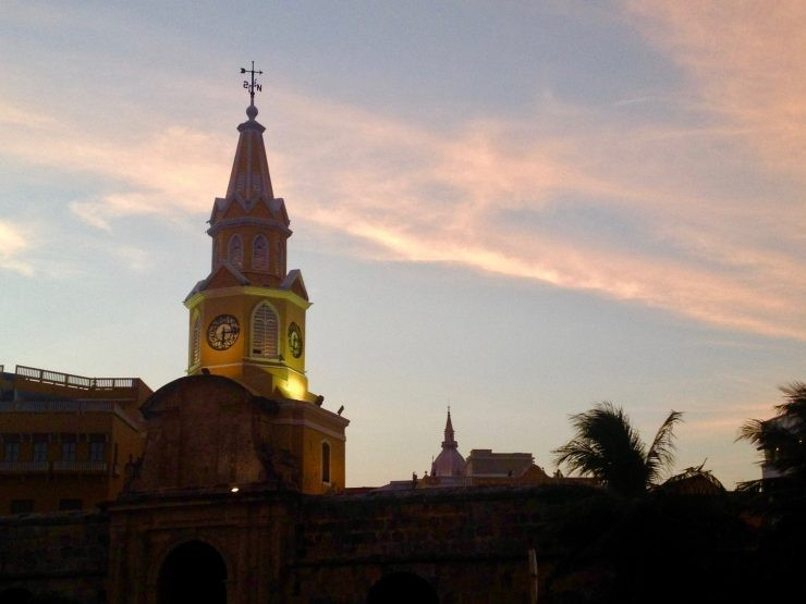 Clocktower, Cartagena, Colombia.