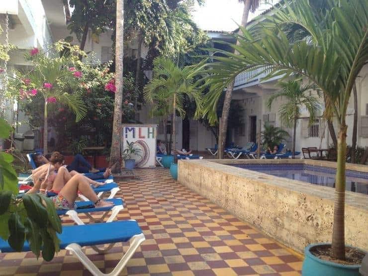 Media Luna Hostel, Cartagena, Colombia.