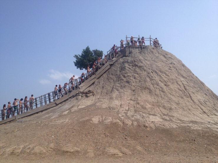 Mud volcano in Cartagena Colombia