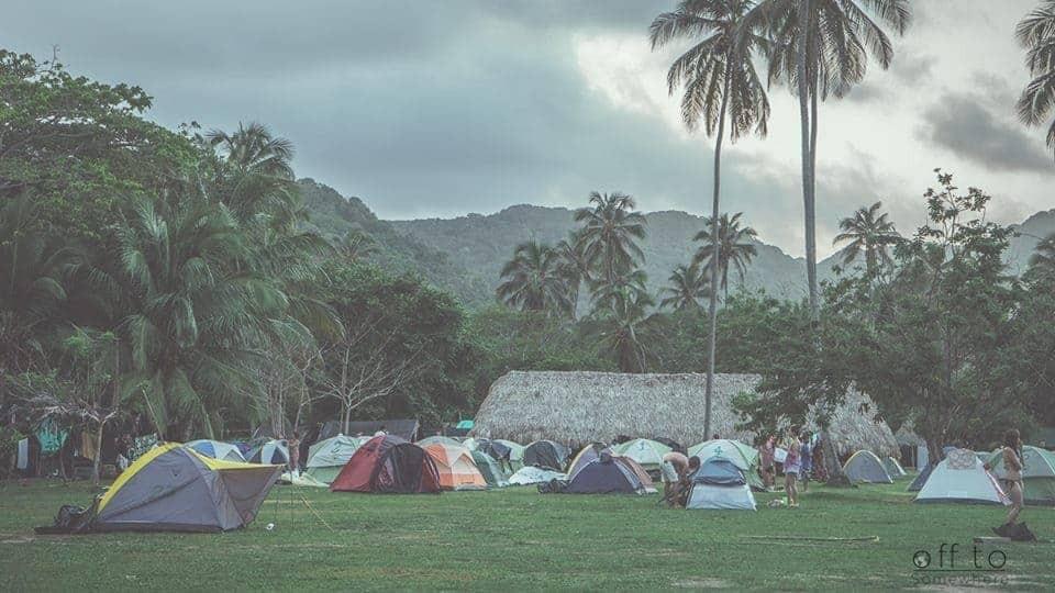 Camping in Tayrona National Park, Colombia.