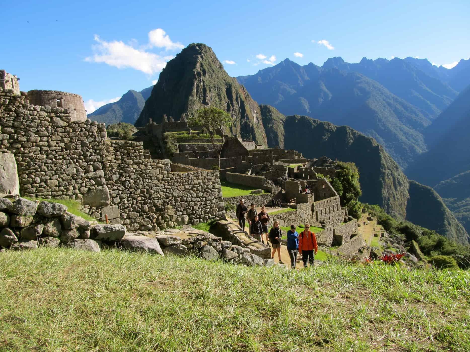 A Trekking Group at Machu Picchu