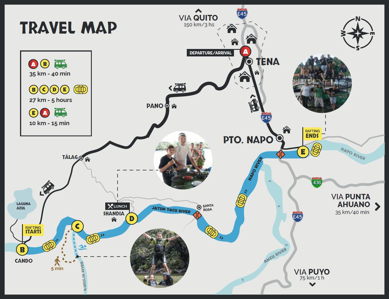 Jatun Yacu River Tena Ecuador Map
