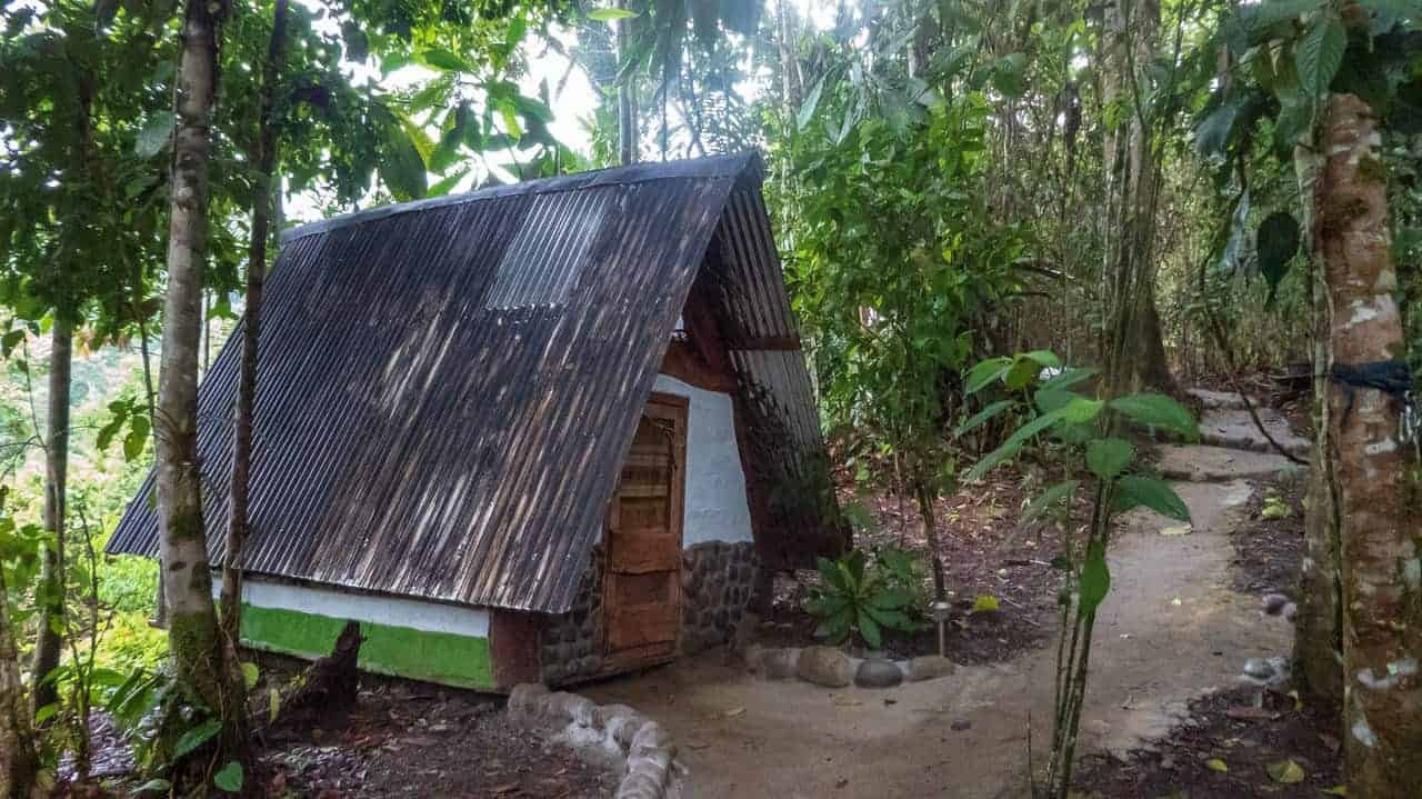 The warmth of the glamping hut in Jungle Roots