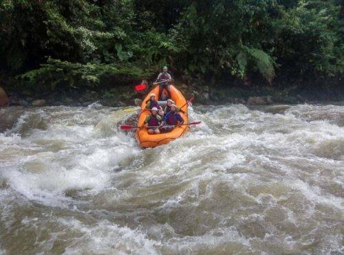 Rafting on the Jondachi-Hollín River, Tena, Ecuador