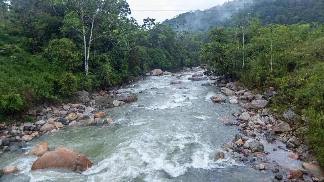 Rapids on Jondachi-Hollín River, Tena, Ecuador