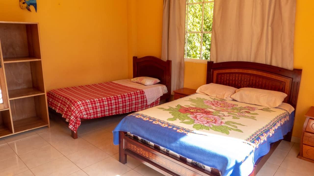 The lovely cosy room at Hostal Tena Ñaui, Ecuador.