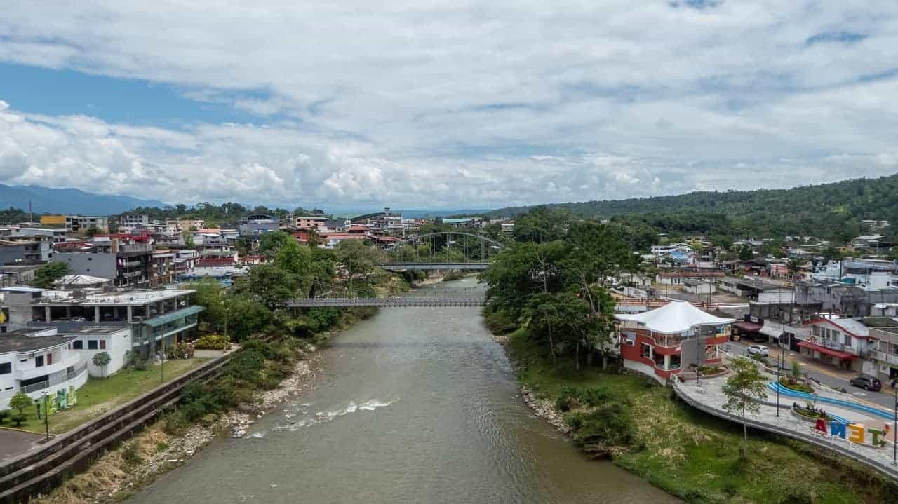 The river in Tena, Ecuador