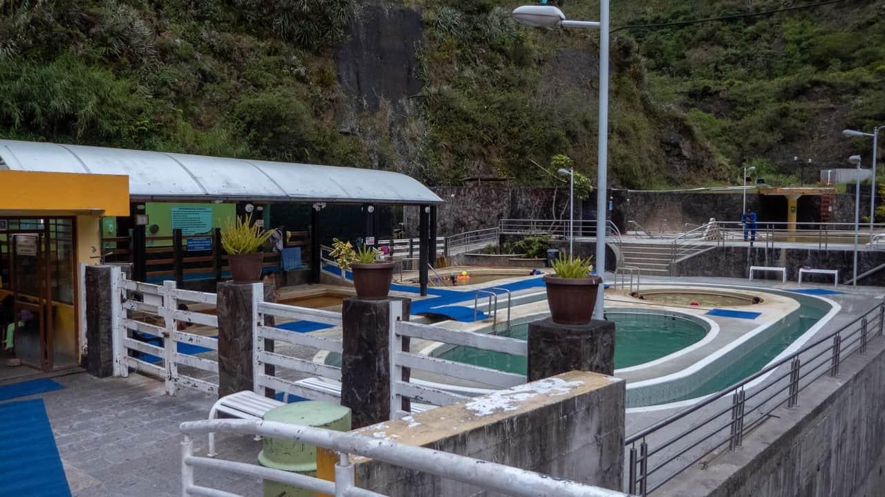 El Salado thermal baths in Baños, Ecuador.
