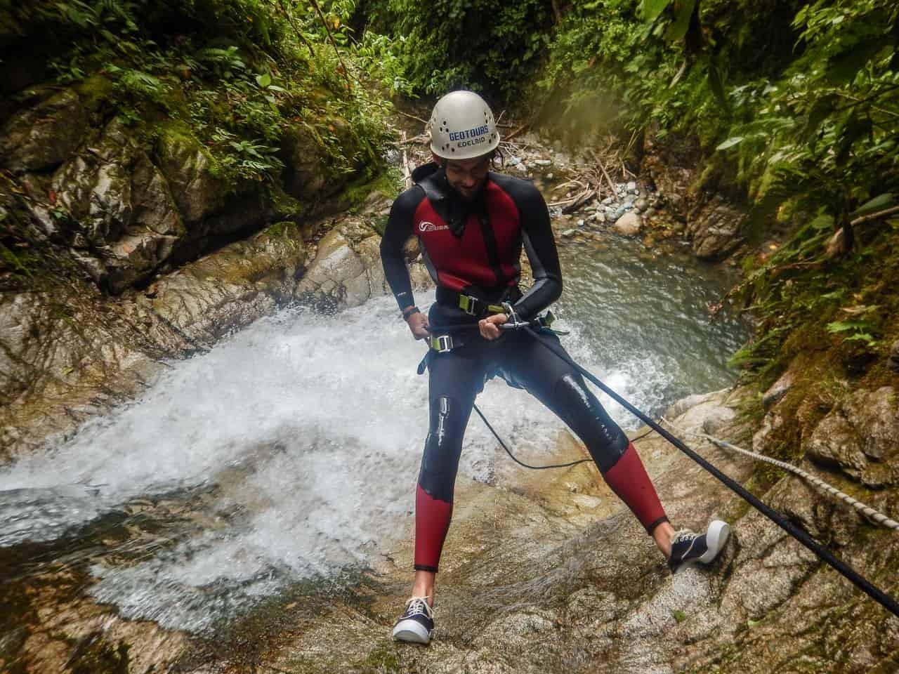 Canyoning in Baños, Ecuador