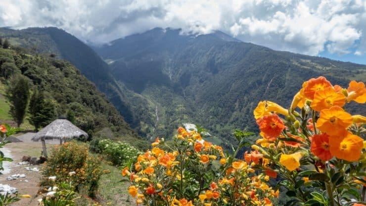 The gorgeous countryside around Baños, Ecuador.