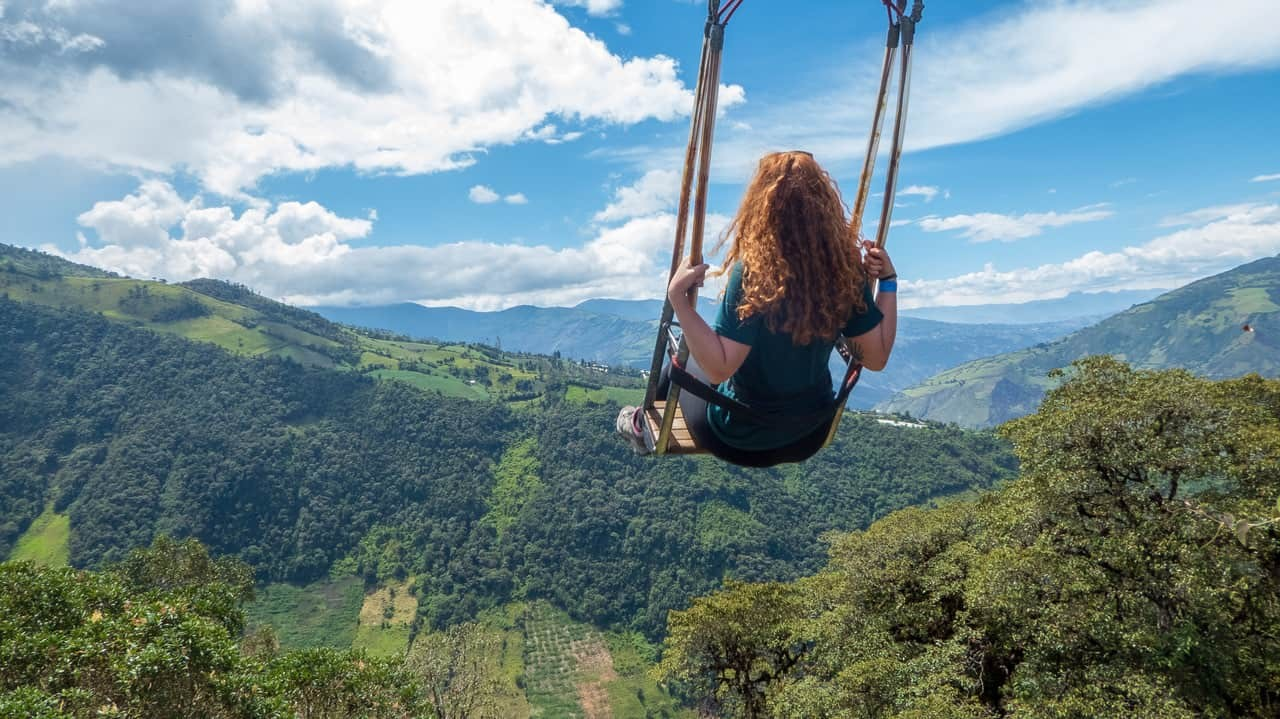 The swing at the end of the world, Baños, Ecuador.