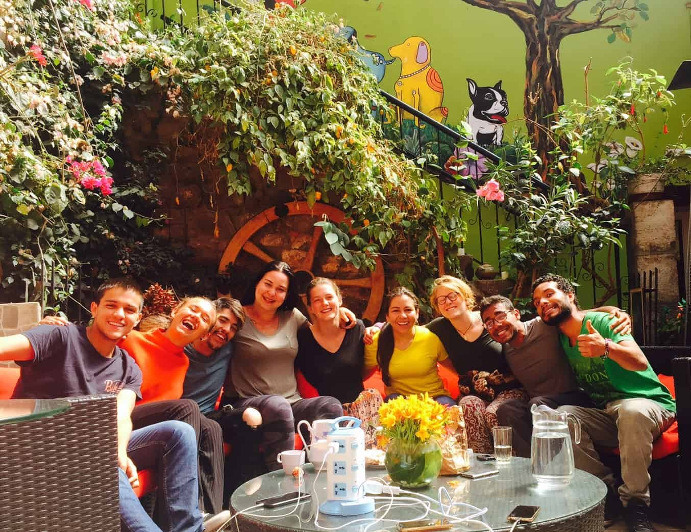 A Group of Happy Backpackers at Blacky Hostel, Cusco