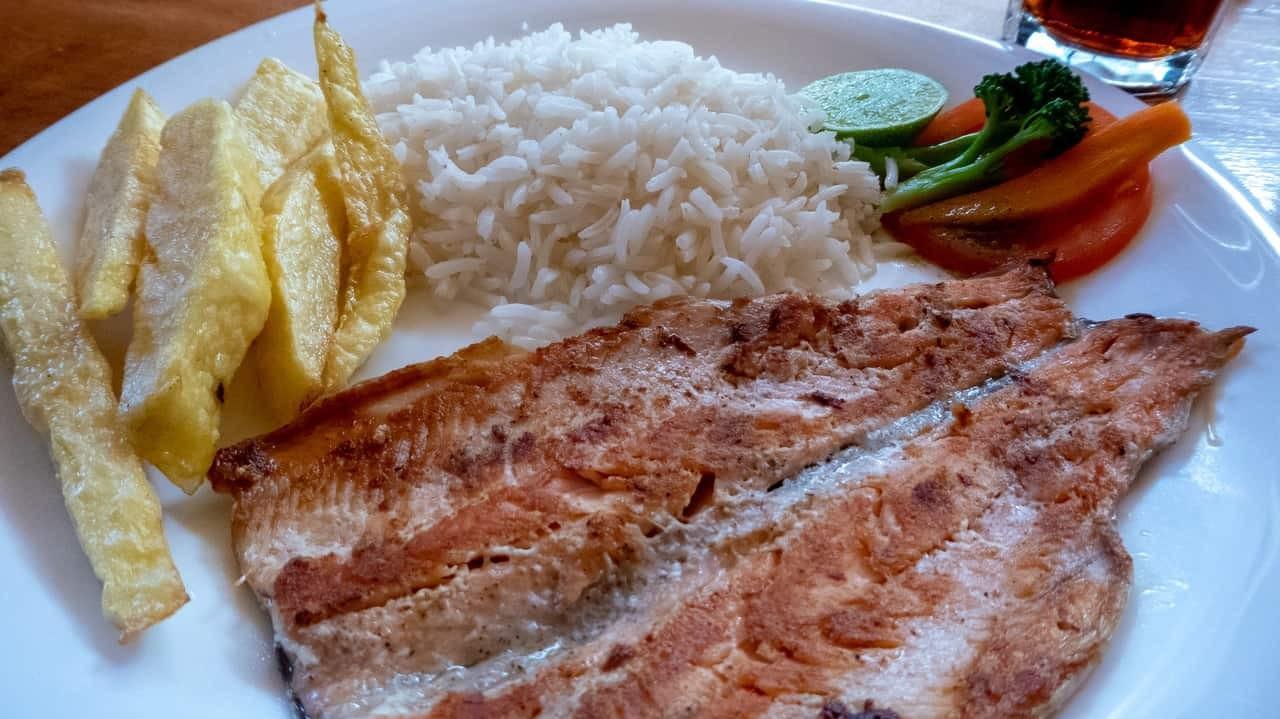 Savory lunch in Cuenca, Ecuador