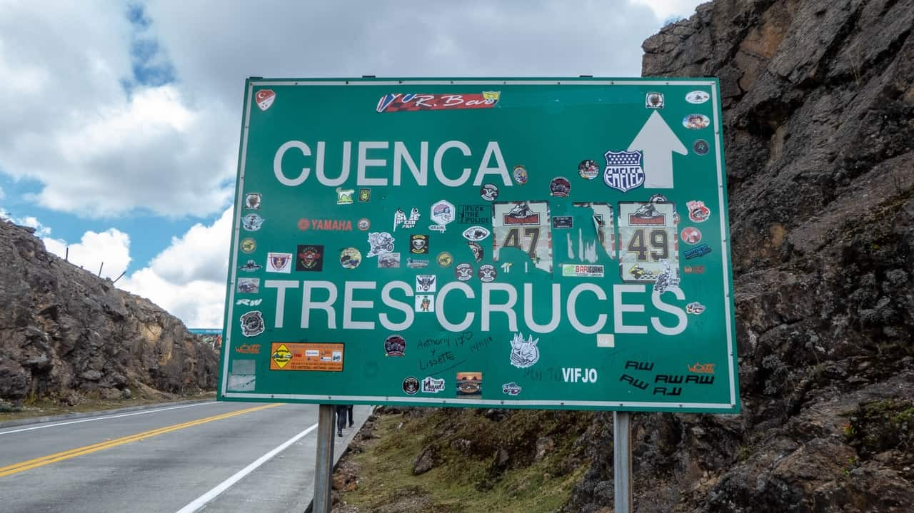 On the way to Tres Cruces in Cuenca - Cajas National Park, Ecuador
