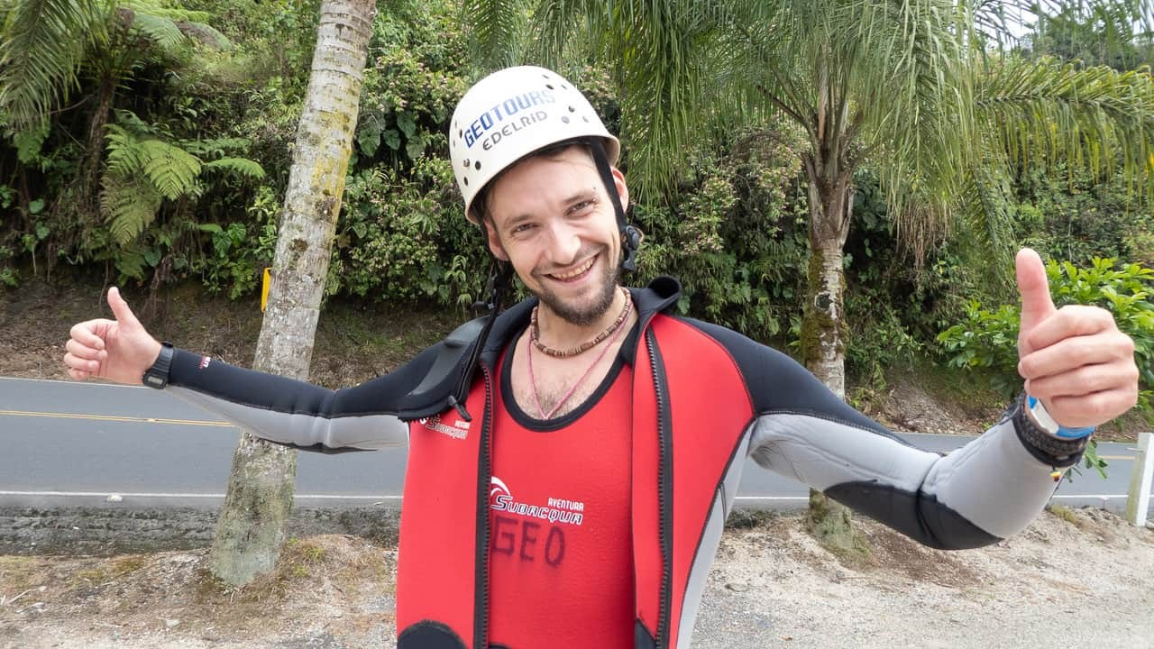Happy and satisfied with one of the best canyoning experiences - Takiri Travel, Ecuador