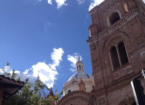 Blue skies in Cuenca, Ecuador