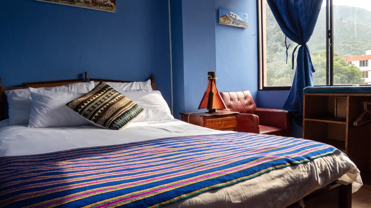 A Bright and Bold Double Room at Erupcion Art Hotel and Hostel