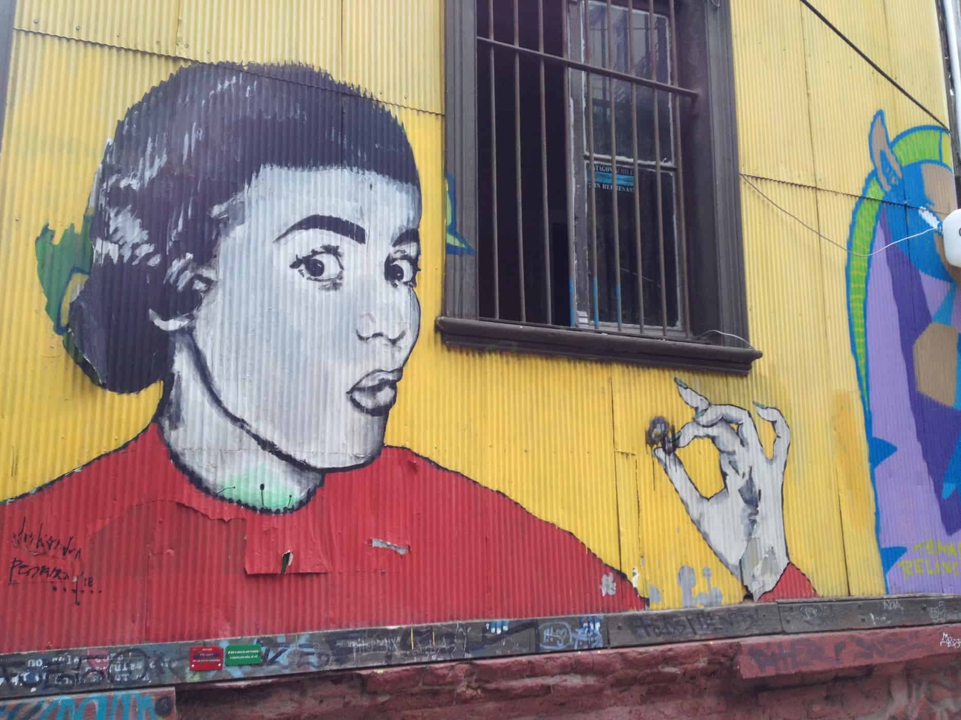 Graffiti in Valparaíso, Chile - A city popular with artists and musicians
