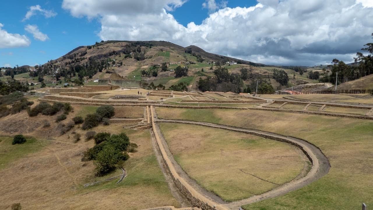 The view of Ingapirca Ruins Complex, Ecuador