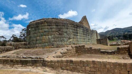 The Temple of the Sun at Ingapirca, Ecuador