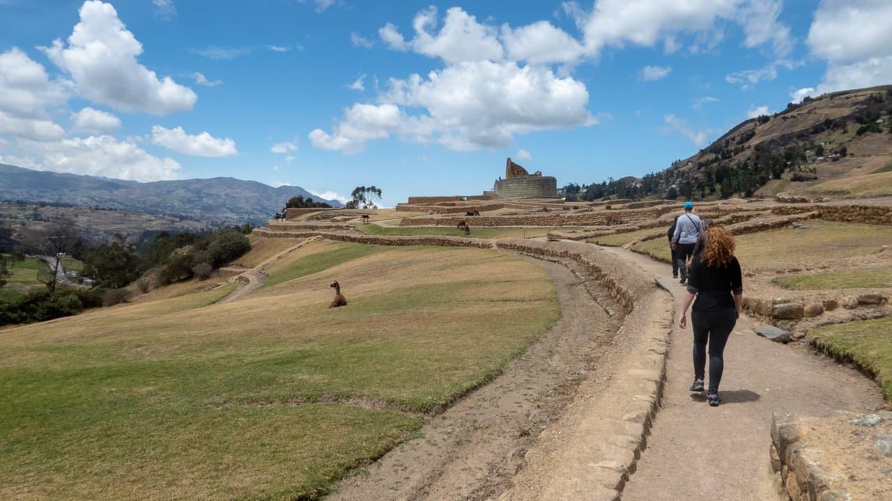 One can definitely enjoy a peaceful walk in Ingapirca Ruins, Ecuador