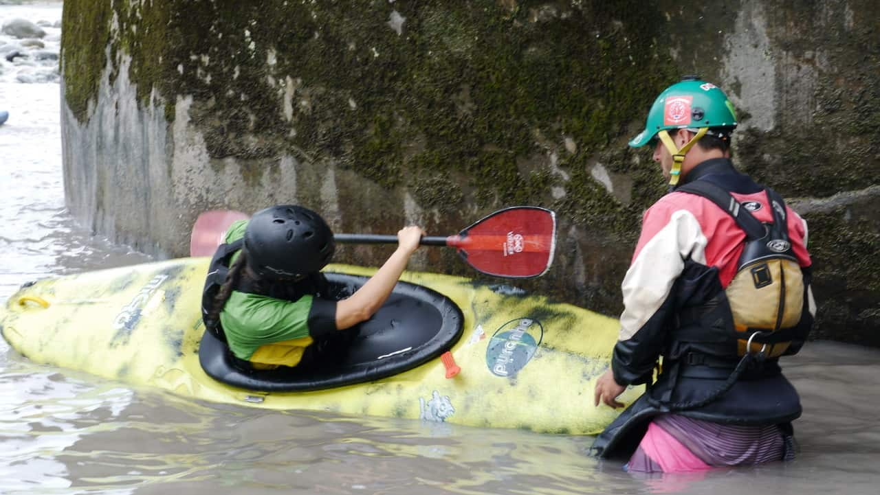 Sheree Practices Her Kayaking Moves