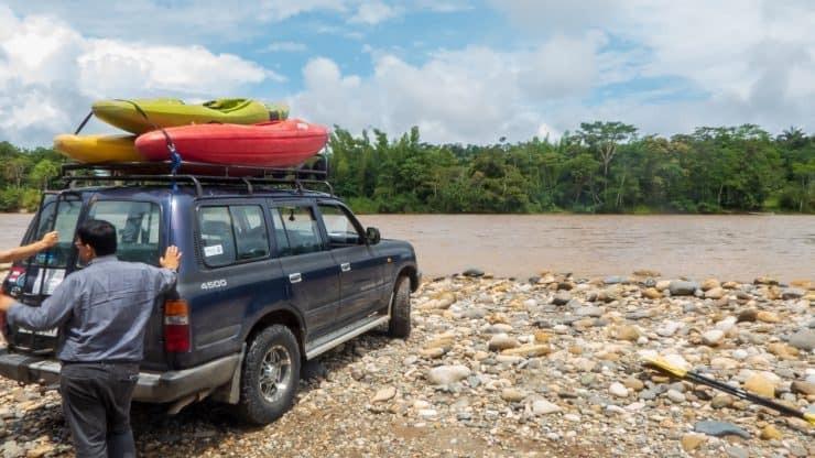 Kayak Ecuador - transport