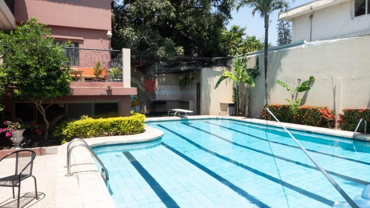 Refreshing pool in Hostel Nucapacha, Guayaquil, Ecuador