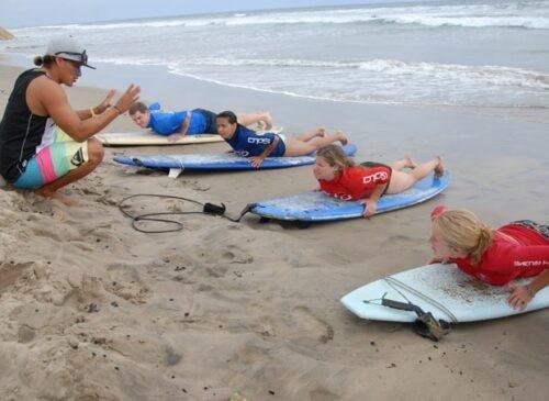 Surfing Lesson in Montanita Ecuador