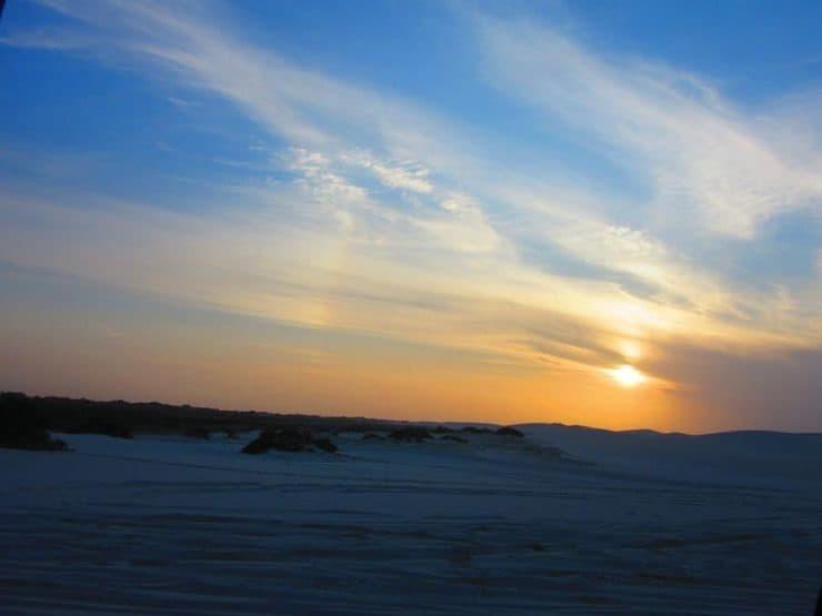 The Sun Sets in Jericoacoara