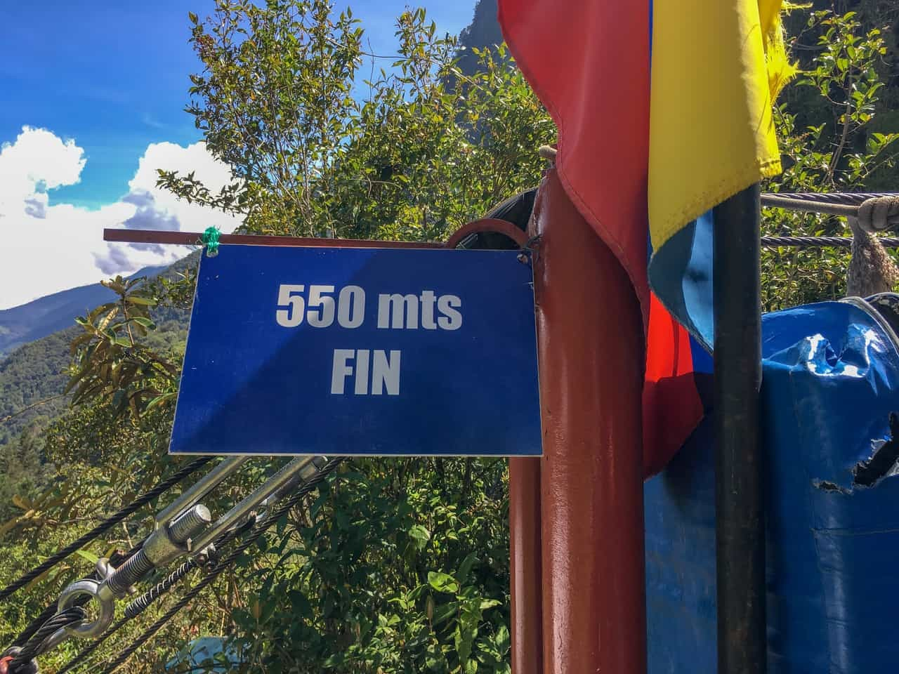 Shortest line in the zip-lining park with Takiri Travel, Ecuador