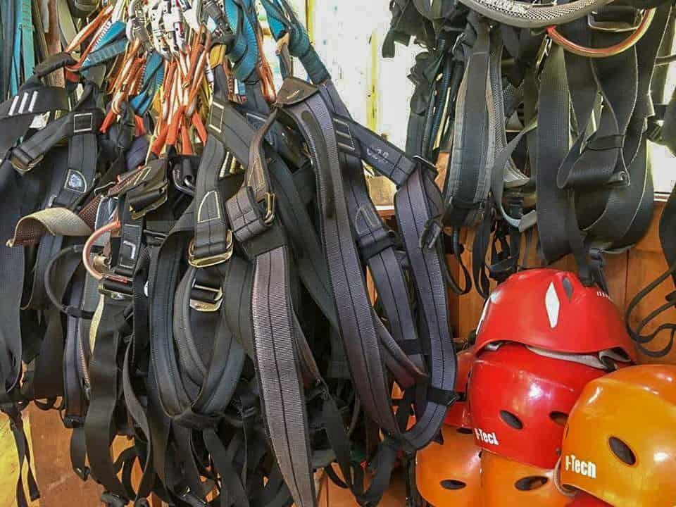 Safety equipment for zipline - Takiri Travel, Ecuador
