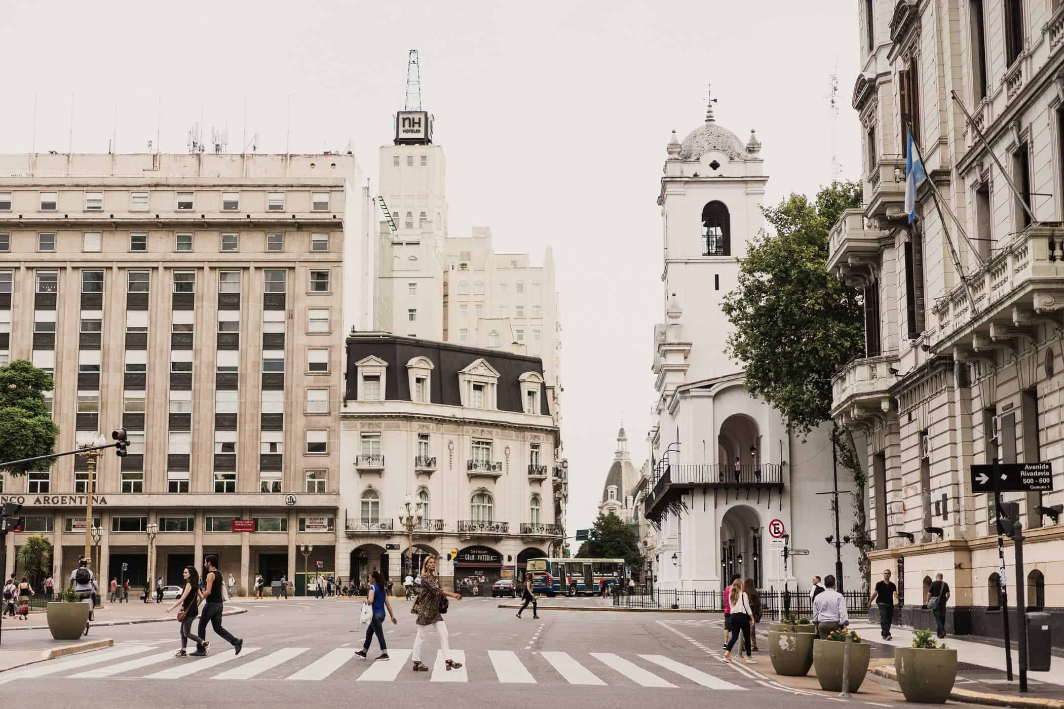 The sophisticated streets of Buenos Aires, Argentina.