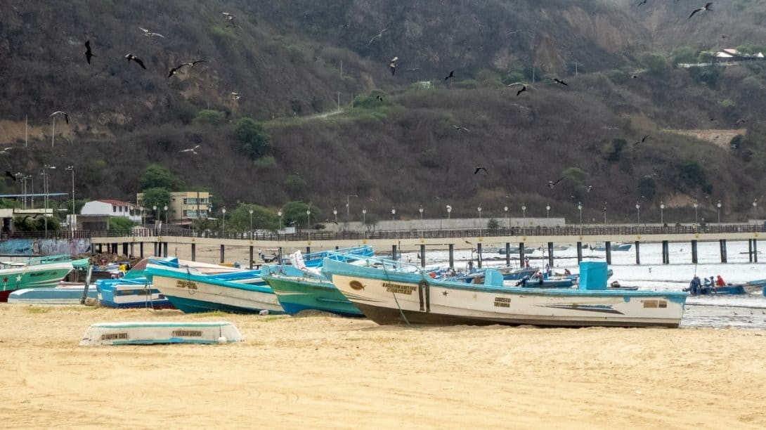 Beach in Puerto Lopez Ecuador