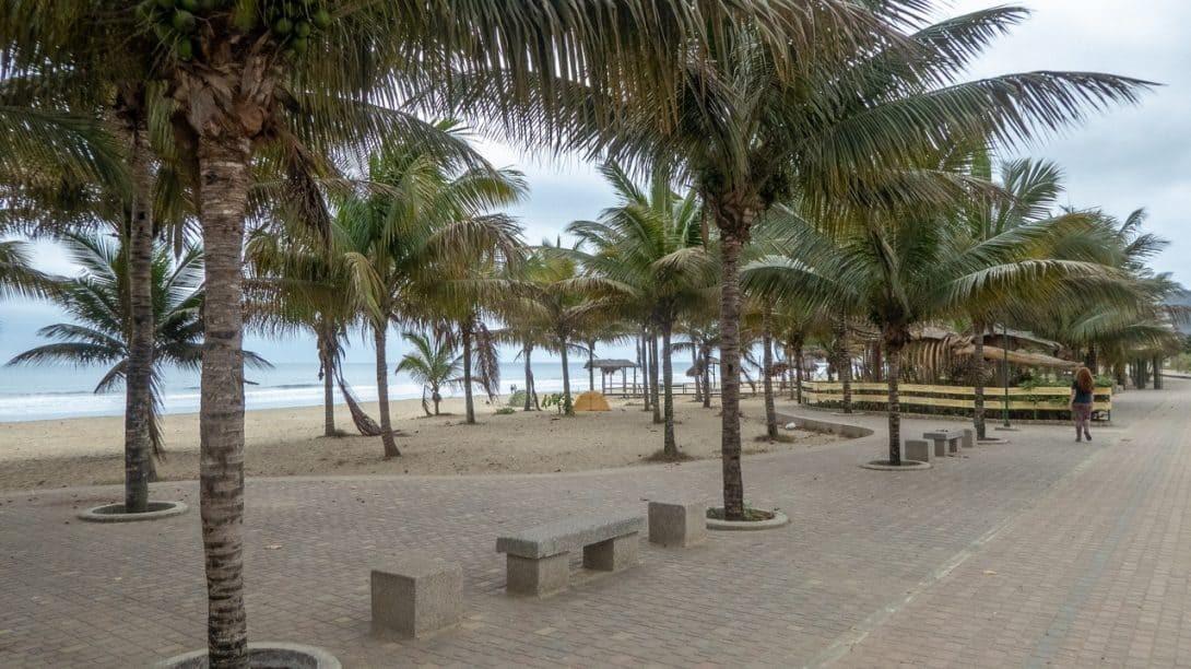 The beachfront in Puerto Lopez Ecuador