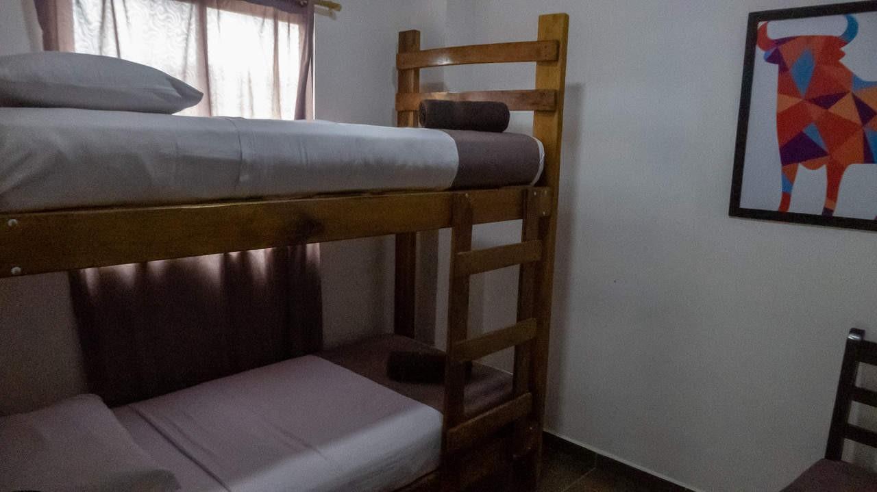 Earth tones in the rooms provide homey vibe. Hotel Ancora, Ecuador.
