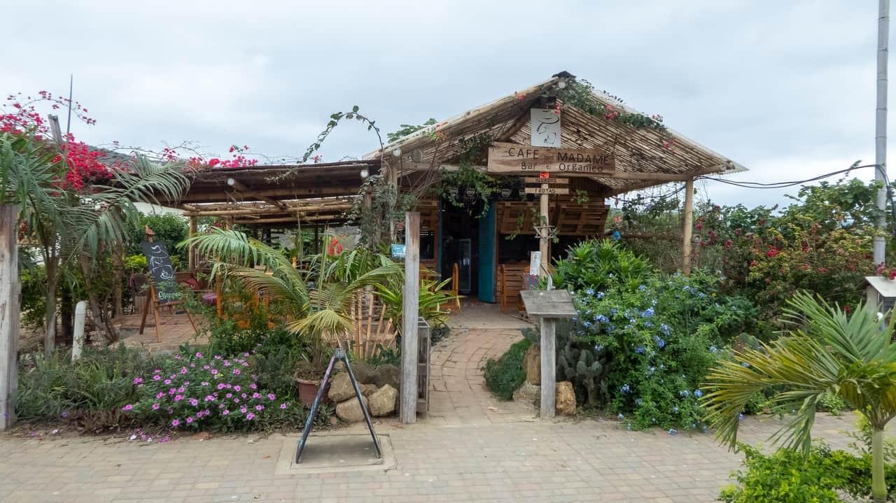 The front yard of Café Madame, Puerto Lopez, Ecuador