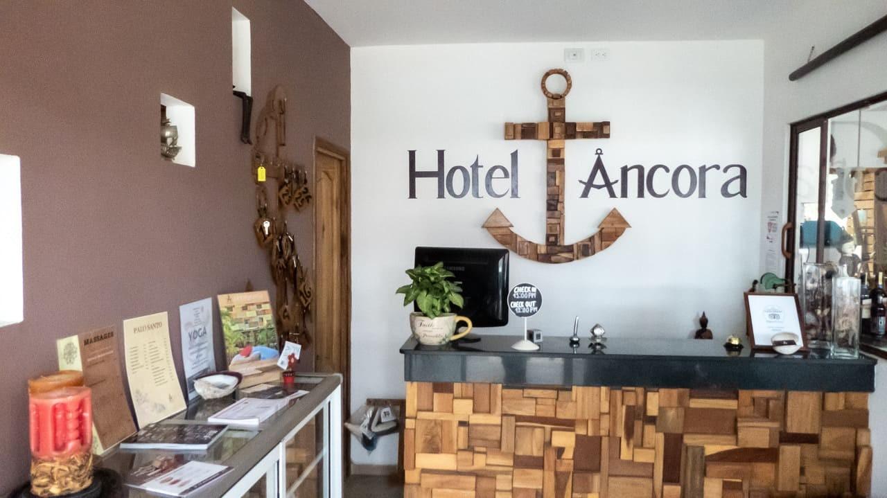 The Reception at Hotel Ancora, Puerto Lopez, Ecuador