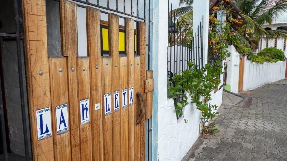 La K Leta street Puerto Ayora Ecuador