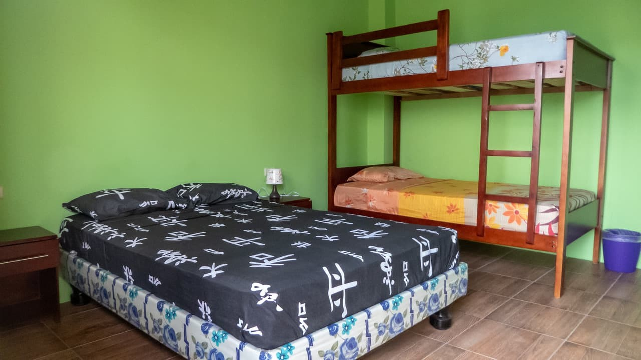 One of the rooms at Hostel Pachamama, Puerto Lopez, Ecuador.