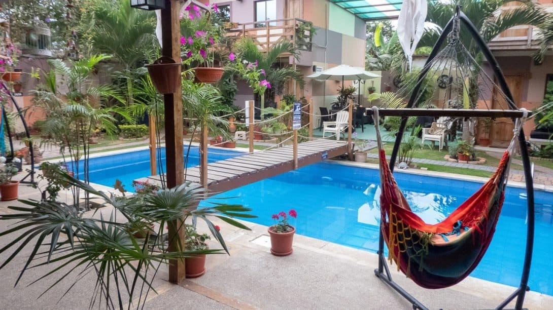Swimming pool at Hotel Ancora, Puerto Lopez, Ecuador