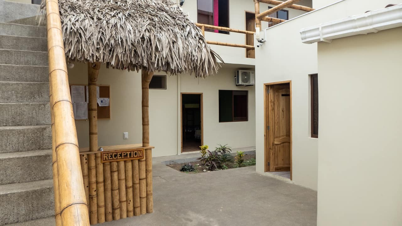 The reception area at Hostel Pachamama