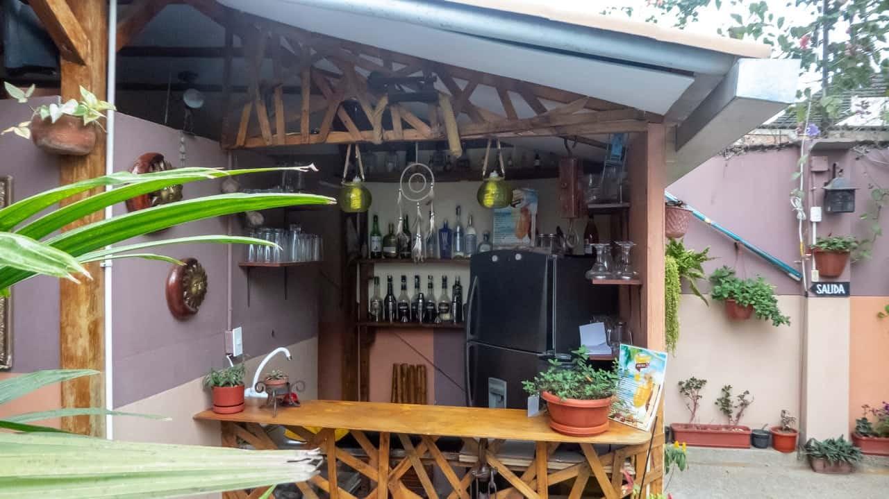 The outdoor minibar of Hotel Ancora has enough to lift your spirits. Ecuador.
