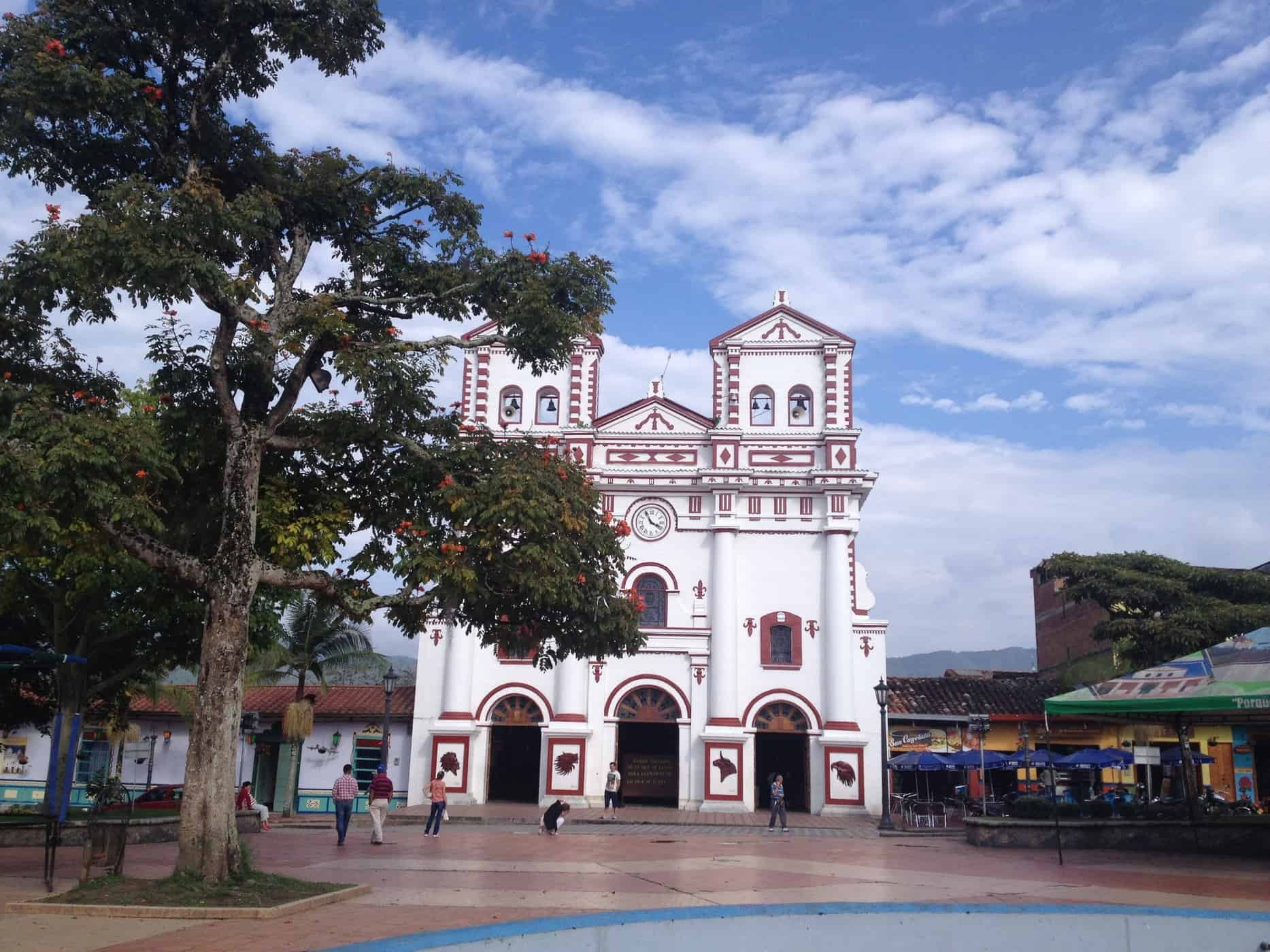 Church in Guatapé, Colombia.