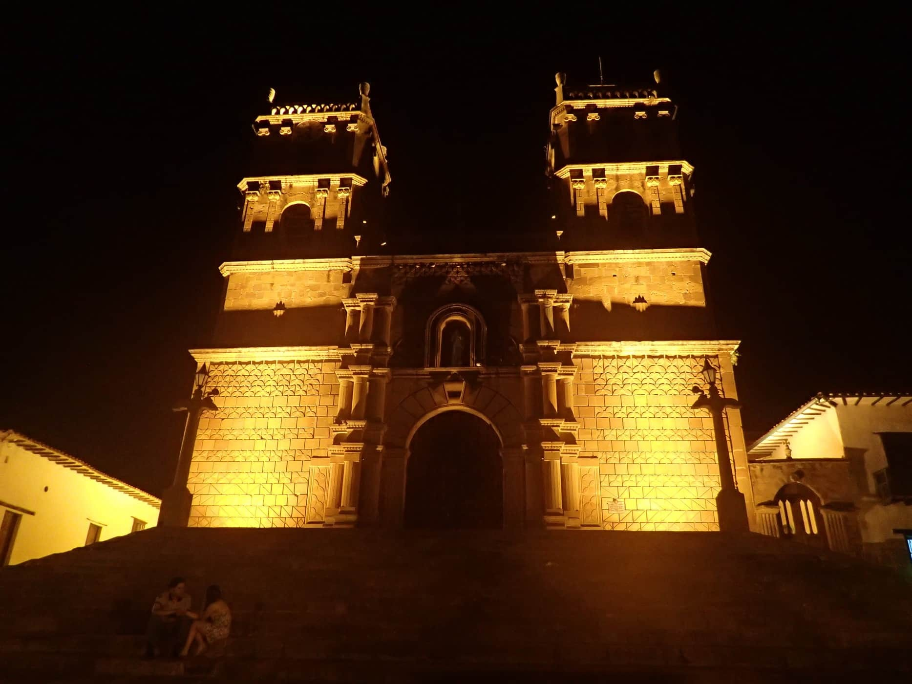 The church in the main plaza of Barichara, Colombia.