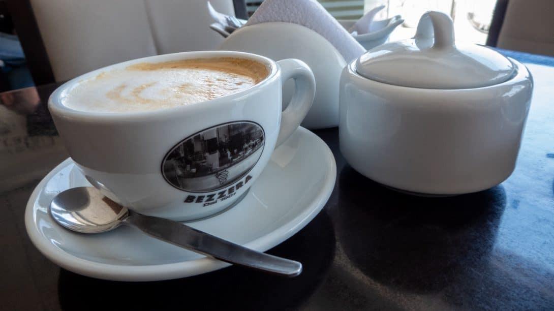 Coffee at Arena Cafe Paracas.