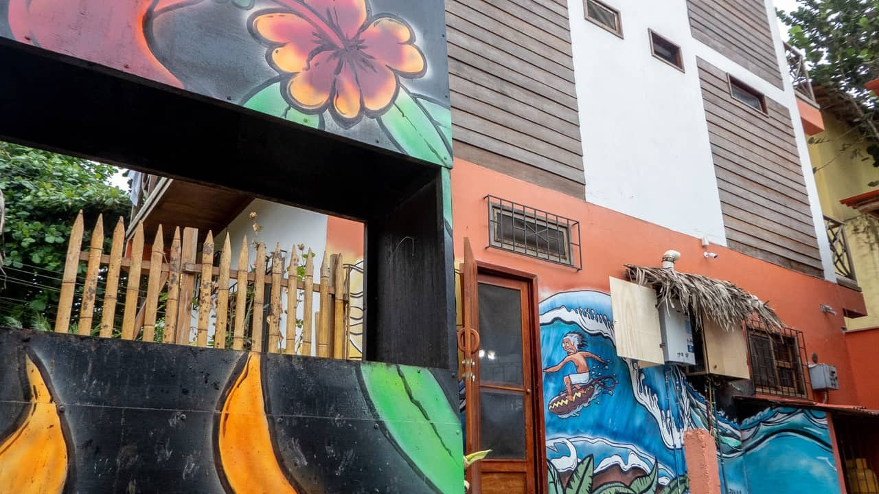 Esperanto Hostel is made from 90% recycled wood - Montañita, Ecuador.