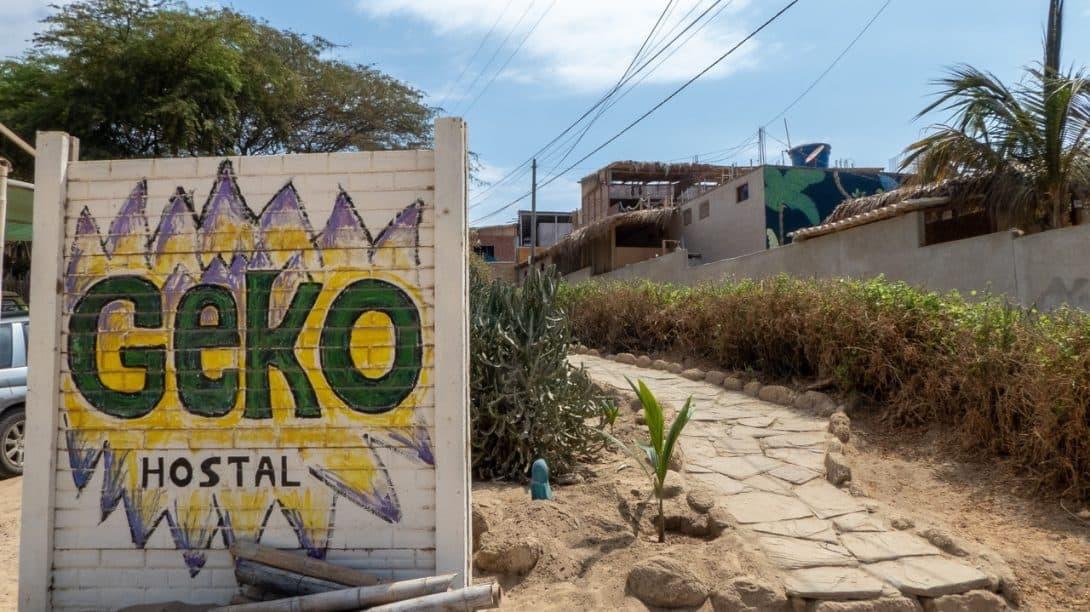 Geko Hostal, Máncora Peru