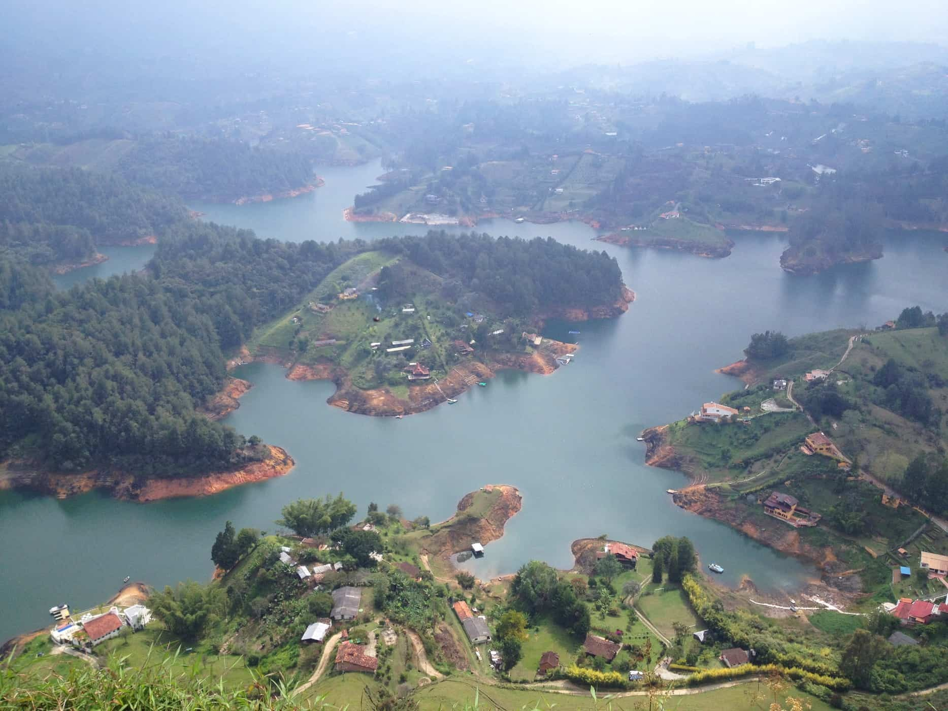 Guatapé Reservoir - The view from the top of El Peñol.